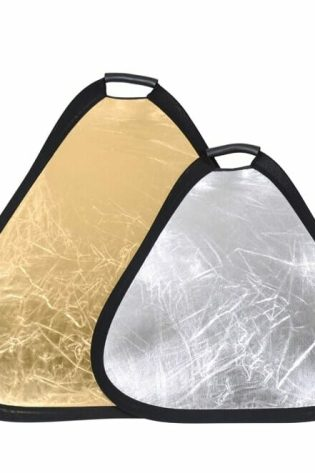 2 in 1 Triangle Portable Reflector 60cm ( Gold / Silver )