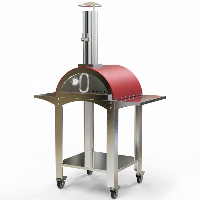 Outdoor Portable Mobile Gas Burning Pizza Oven