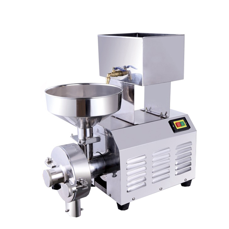 small stainless steel dry and wet rice grinder/grain flour mill machine