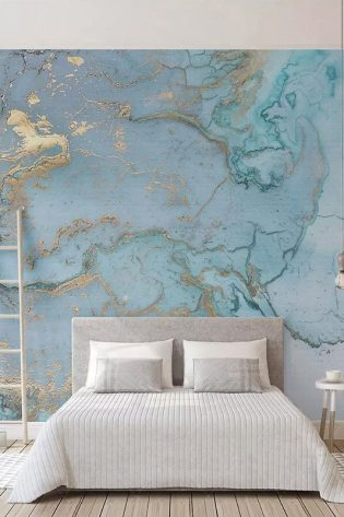 Custom Photo Wallpapers 3D Stereo Blue Texture Marble Wall Paper Murals Living Room TV Sofa Bedroom Study Décor