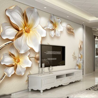 beibehang papel de parede Custom photo wall paper large fresco 3d luxury flowers 3d jewelry TV background wall 3d wallpaper