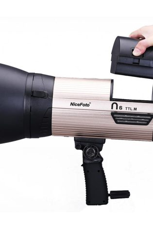 NiceFoto n6 TTL 600WS TTL Battery powered studio flash for Camera light HSS 1/8000s outdoor photo shooting photographic light