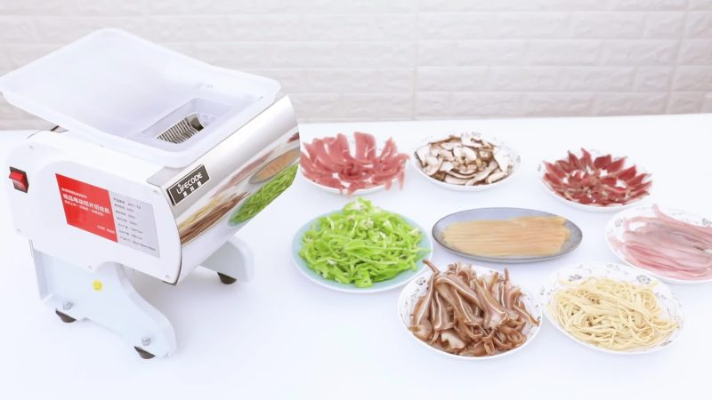 2019 Stainless Steel Commercial Electric Full Automatic Meat Slicer 100Kg/Hour Meat Cutting Machine